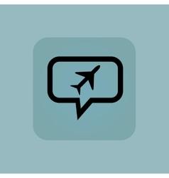 Pale blue plane message icon vector image vector image