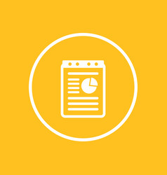 Report document icon in circle vector