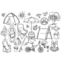 set picnic vector image vector image