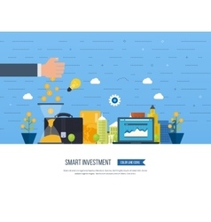 Smart investment finance banking management vector