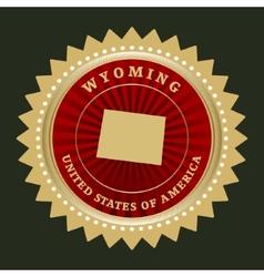 Star label wyoming vector