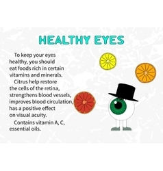 The benefits of citrus fruits for eyesight vector