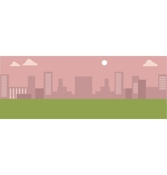Urban Cityscape Silhouettes of Buildings vector image vector image