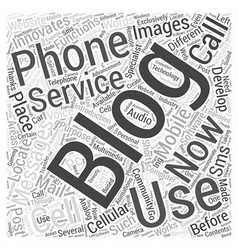 Wireless Blogging Works Word Cloud Concept vector image
