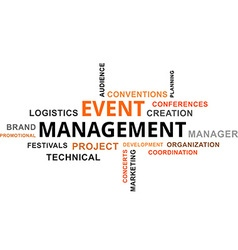 Word cloud event management vector