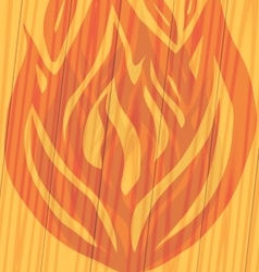 silhouette of fire on the wooden vector image