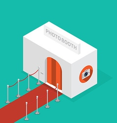 Photo booth isometric vector