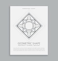Sacred religion geometric shape vector