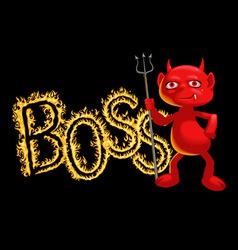 Boss - a demon vector