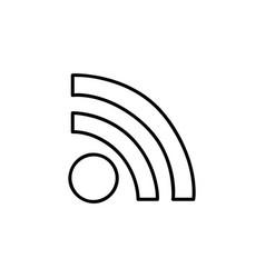 monochrome contour with wifi icon vector image