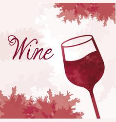 wine glassware vintage image vector image