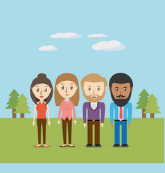 Set avatars men and women of different diversity vector