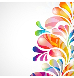 Abstract teardrop background vector image