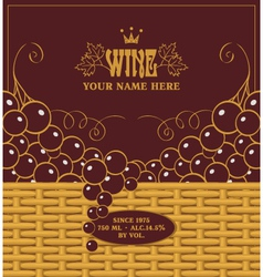 Red wine labels vector