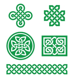 Celtic knots braid patterns - st patricks day vector