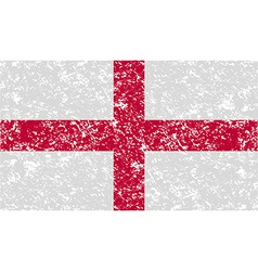 Flag of england with old texture vector