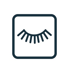 Eyelash icon rounded squares button vector