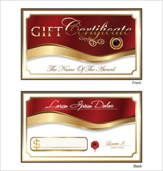 Voucher gift certificate coupon template vector