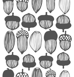 Seamless acorn background vector