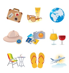 Tourism and vacation icons vector