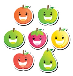 fruit stickers vector image