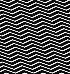 Seamless black and white chevron pattern vector