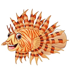 lion fish cartoon vector image