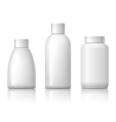 Realistic cosmetic bottle vector