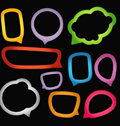 Speech bubbles borders vector