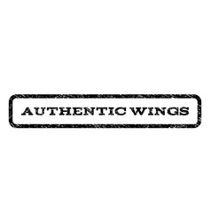 Authentic wings watermark stamp vector