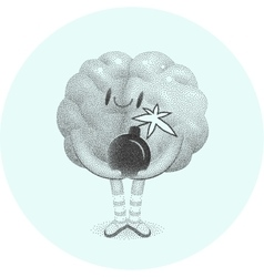 Boom brain vector image vector image