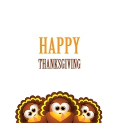 Cartoon turkey in hat card for thanksgiving day vector