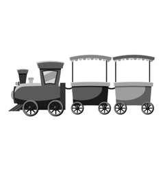 Children locomotive icon gray monochrome style vector