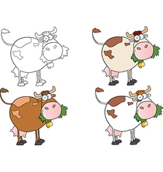 Cows Different Color-Collection vector image