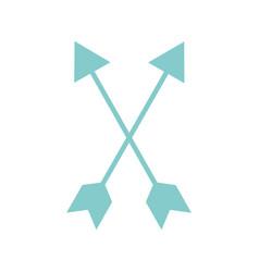 cupid arrow isolated icon vector image