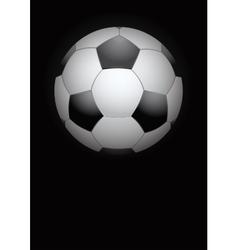 Dark Background of football ball vector image vector image