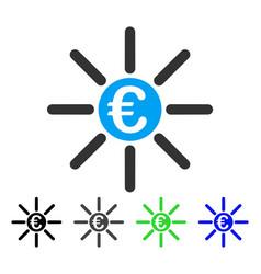 Euro distribution flat icon vector