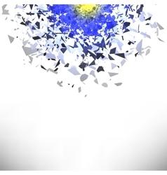 Explosion cloud of grey pieces sharp particles vector