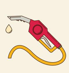 Fuel nozzle add fuel flat vector