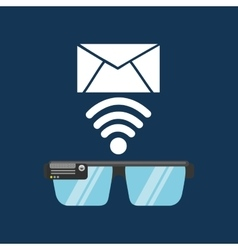 Glasses technology email application media vector