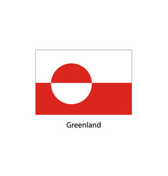 greenland flag official colors and proportion vector image vector image