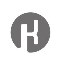 Letter K Logo Concept Icon vector image