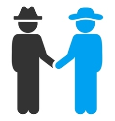 Man handshake icon vector