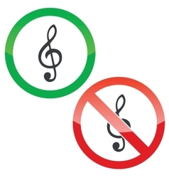 Music permission signs set vector