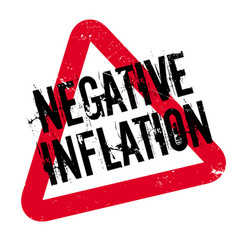 Negative inflation rubber stamp vector