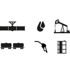 oil icon vector image