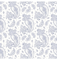 Paisley hand drawn seamless pattern vector