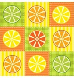 patchwork fruit vector image vector image