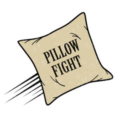 Pillow fight icon vector
