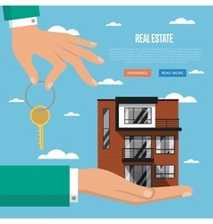 Real estate agency website template vector image vector image